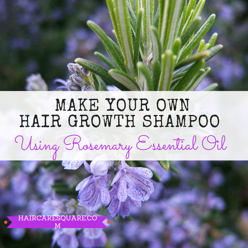 make your own hair grwoth shampoo using rosemary