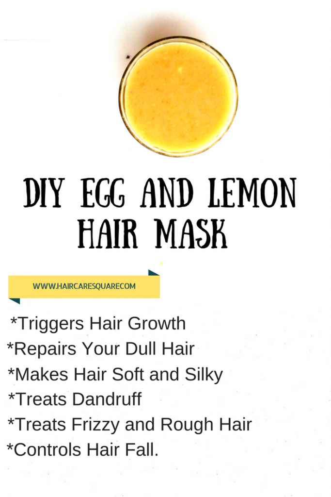 DIY EGG WHITE AND LEMON HAIR MASK FOR HAIR GROWTH