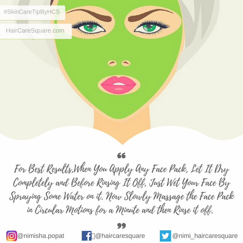 skin care tip by hair care square