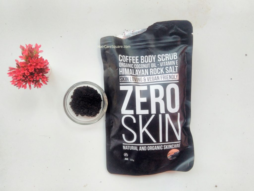 zero skin coffee body scrub for cellulite review