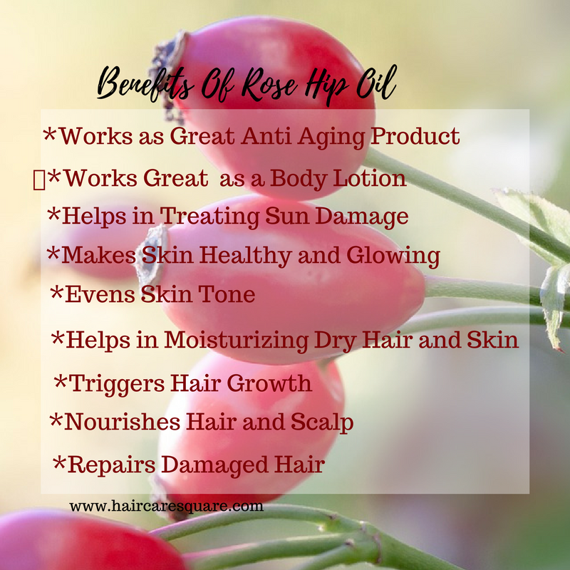 Benefits of rosehip oil for hair