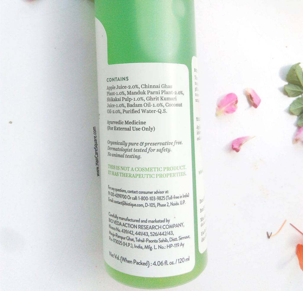 biotique green apple daily purifying shampoo and conditioner review