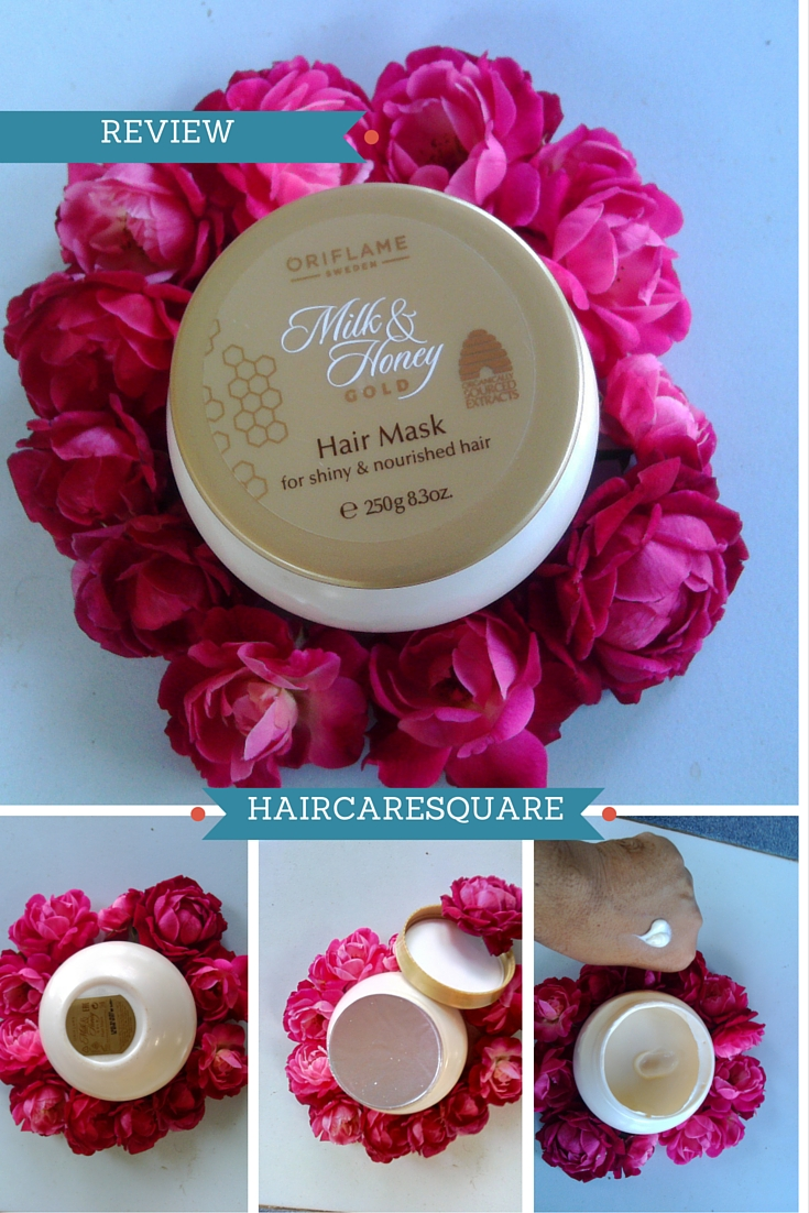 how to use oriflame milk and honey hair mask