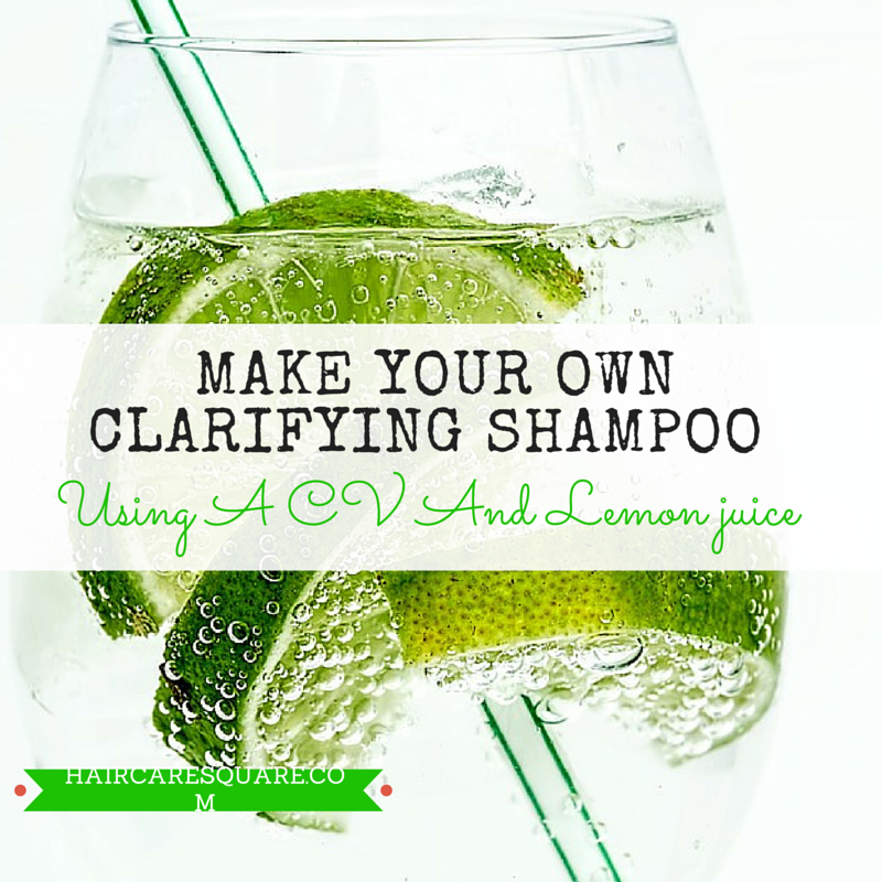 make your own shampoo using lemon juice