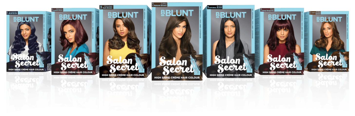 How to use bblunt salon secret creme hair color with shine for B blunt salon secret hair colour shades