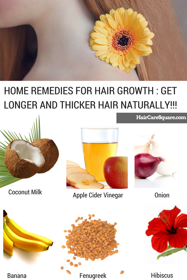 Home Remedies For Hair Growth Get Longer And Thicker Hair