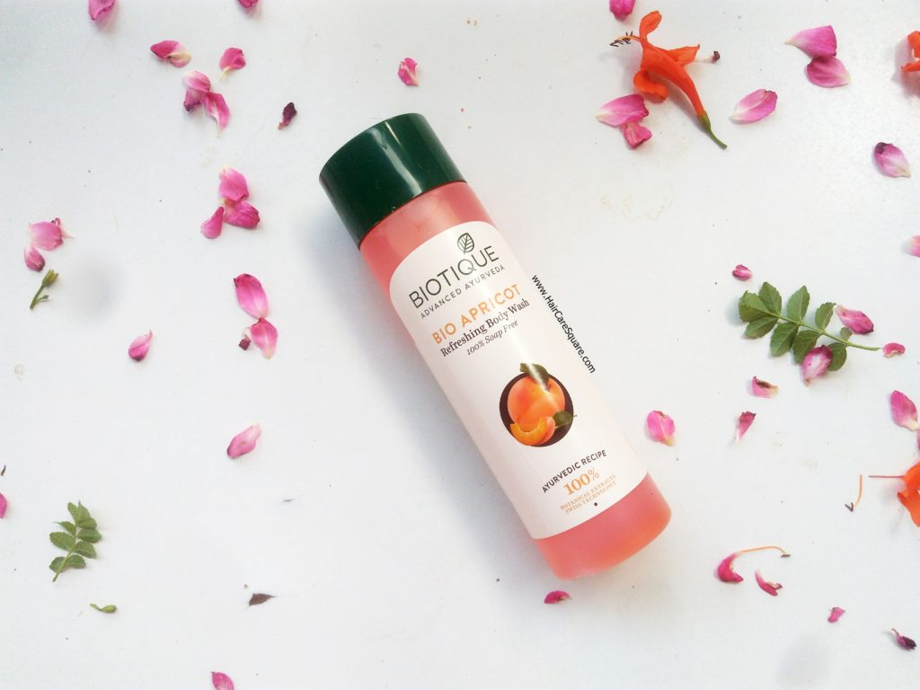 biotique advanced ayurveda bio apricot refreshing body wash review