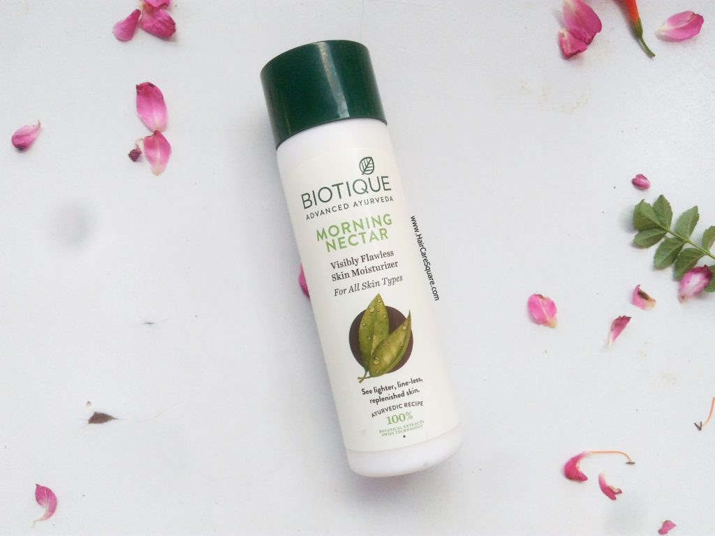 Biotique advanced ayurveda morning nectar visibly flawless moisturizer review