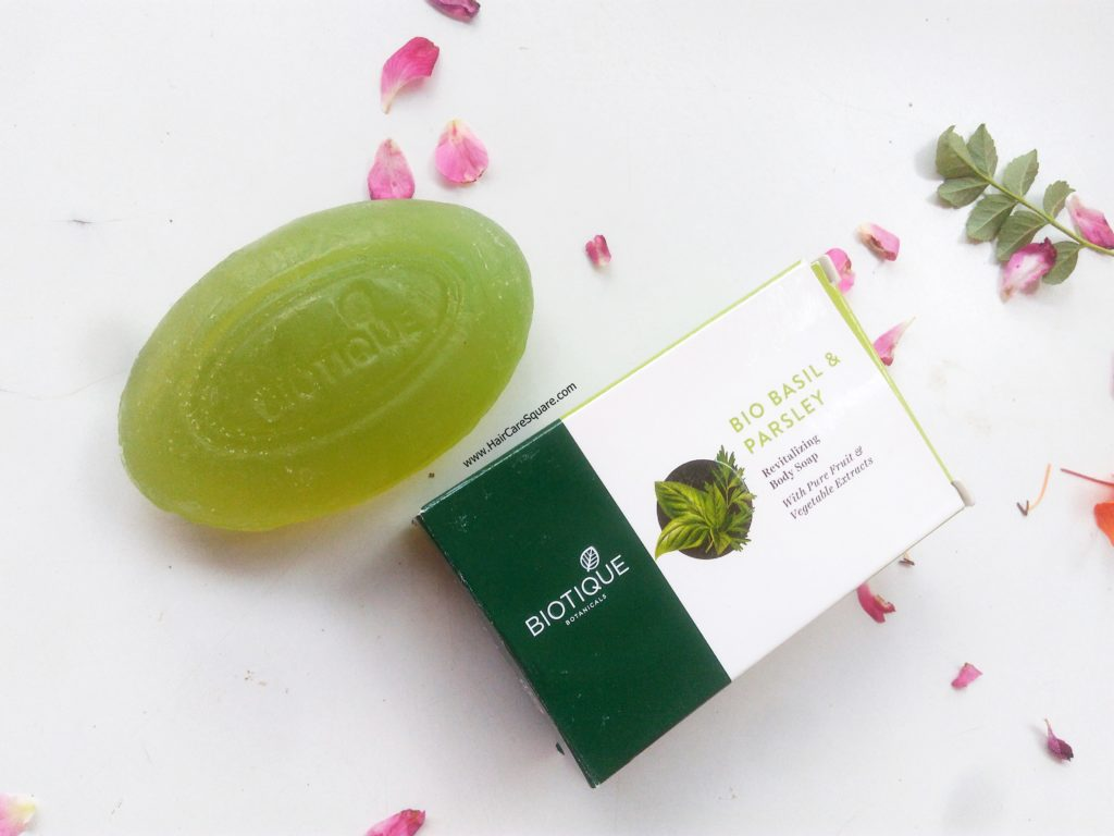 biotique advanced ayurveda bio basil parsleyrevitalizing body soap review