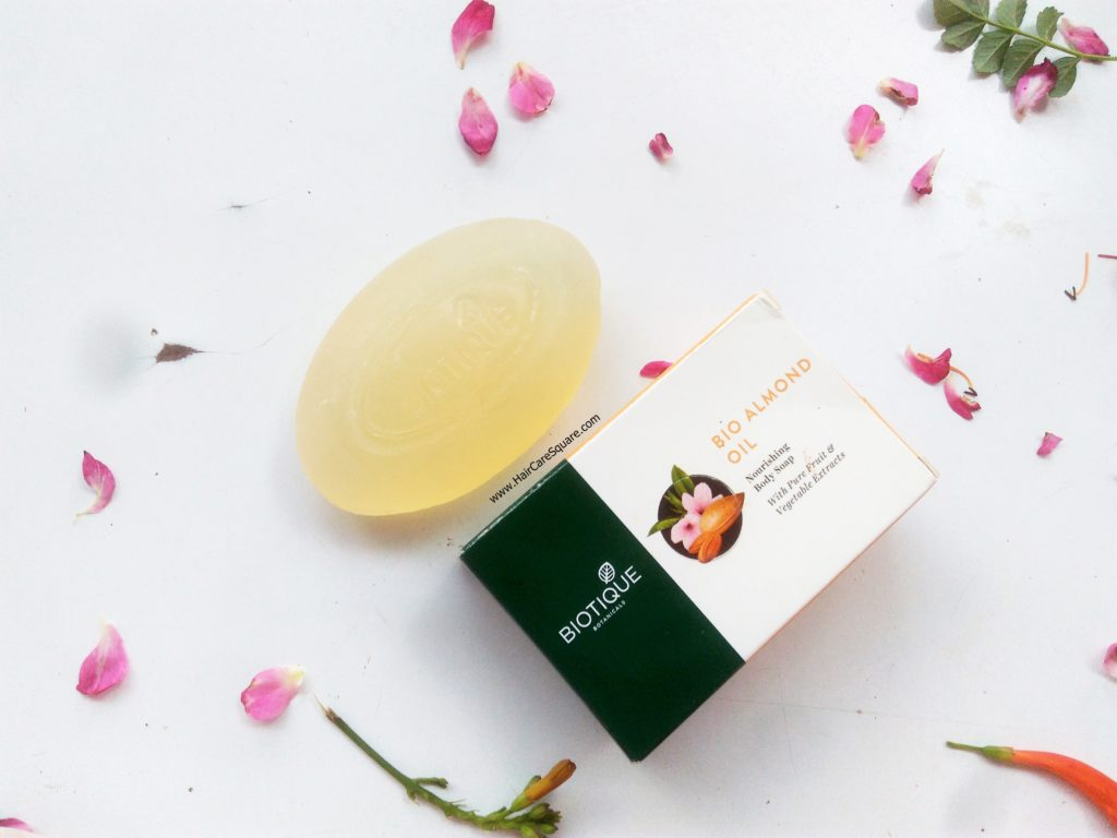 biotique advanced ayurveda bio bio almond oil nourishing body soap review