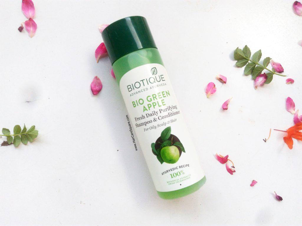 biotique green apple shampoo review