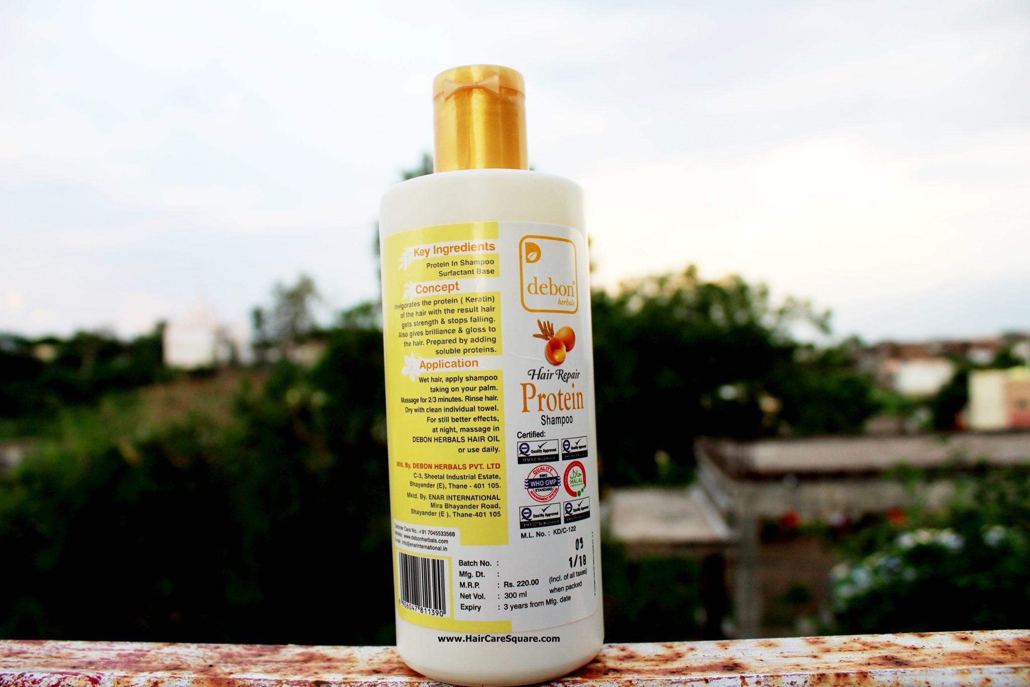 Debon Herbals protein shampoo review