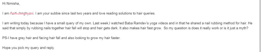 nail rubbing benefits for hair growth