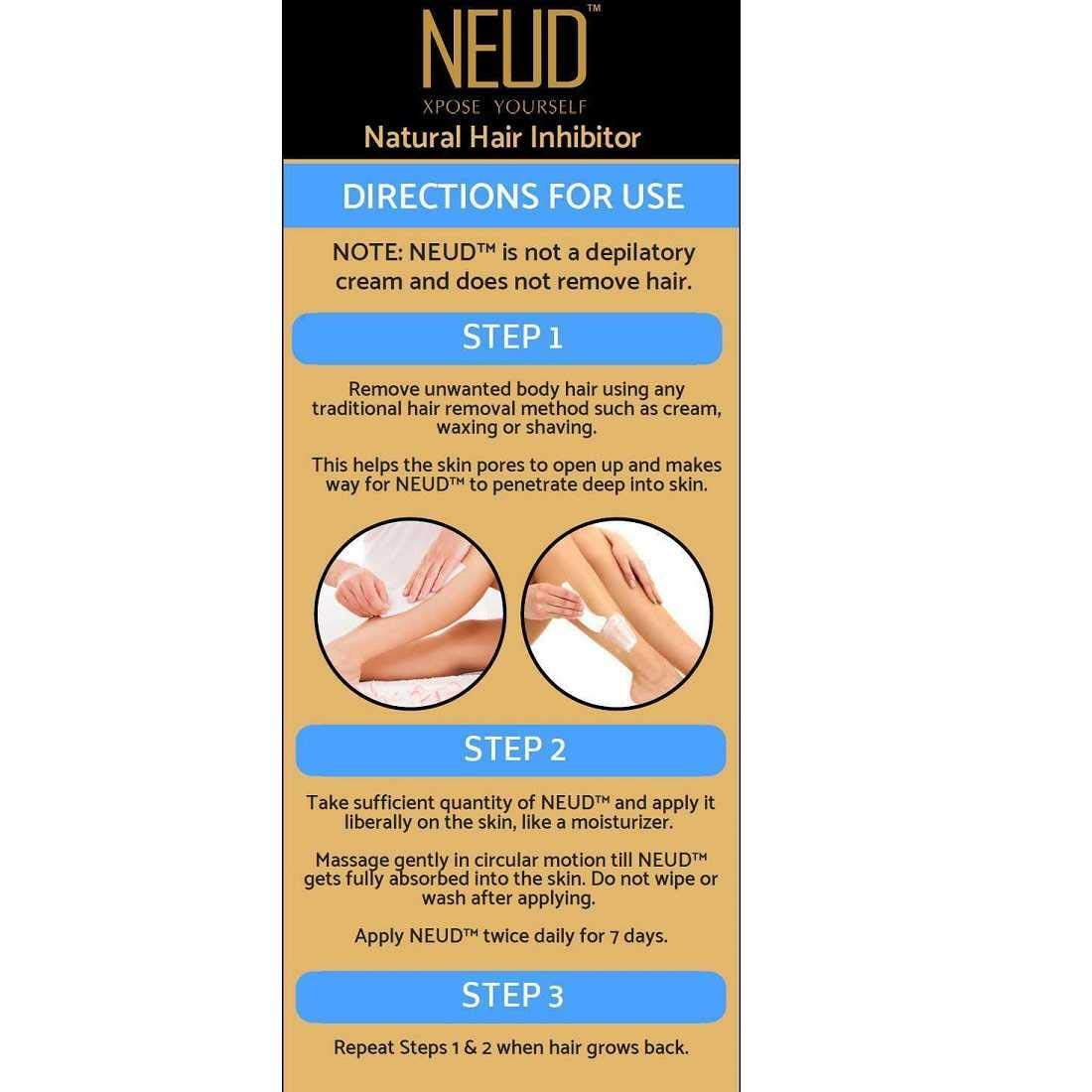 NEUD Natural Hair Inhibitor Review: Does It Really Slow Hair