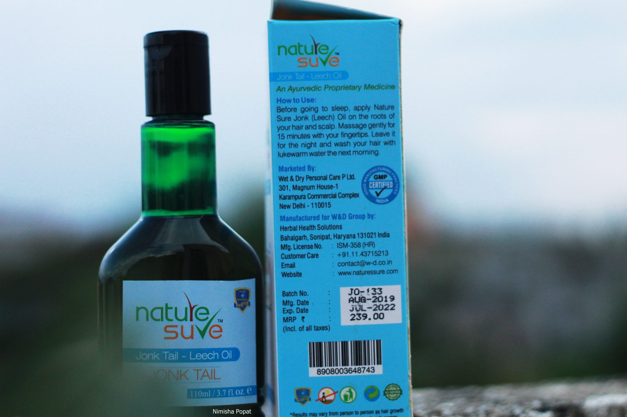Nature Sure Leech Oil for hair regrowth
